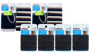 scunci hair ties 122 or 125 pack of scunci no damage elastic hair ties groupon