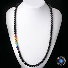 black agate necklace images 7 chakra black agate beads necklaces project yourself jpg