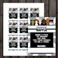 star wars baby shower diaper raffle tickets diaper raffle