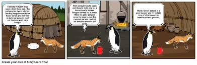 fox and penguin storyboard by nousheenmughal