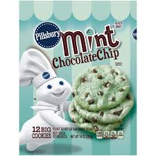pillsbury ready to bake mint chocolate chip cookies 12 ct pack