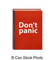 panico testo cuoio libro libro copertina dura isolato rosso isolato