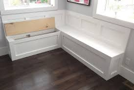 Corner Bench With Storage Awesome Kitchen Bench With Storage I Bet The Husband Could Build