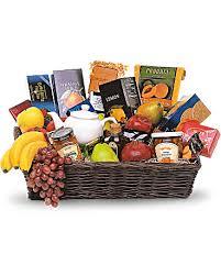 gourmet fruit baskets grande gourmet fruit basket teleflora