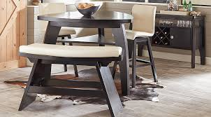dining room tables sets noah chocolate 5 pc bar height dining room with vanilla barstools