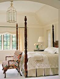 Traditional Home Bedrooms - a stately four poster bed with a quilted headboard anchors the