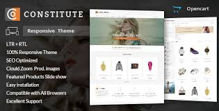 constitute opencart responsive theme by templatemela themeforest