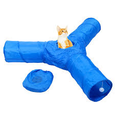 amazon com cat tunnel toy collapsible 3 way tube for kitty