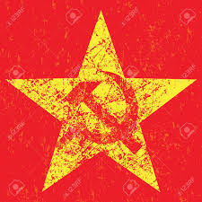 Sickle Russian Flag Grunge Soviet Star With Hammer And Sickle Vector Illustration