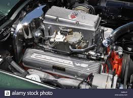 fuel injected corvette a vintage fuel injected corvette engine stock photo royalty free