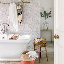 Wallpaper In Bathroom Ideas by Optimise Your Space With These Smart Small Bathroom Ideas Ideal Home