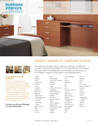 healthcare furniture line card sell sheet