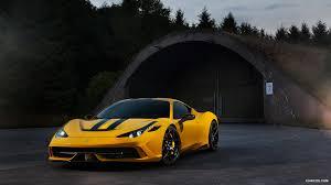 Ferrari 458 Yellow - 2014 novitec rosso ferrari 458 speciale yellow front hd