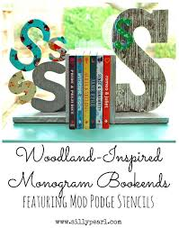 monogram bookends 266 best diy wall letters images on creative ideas