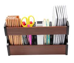 Revolving Desk Organizer by Amazon Com Pag Office Supplies Wood Desk Organizer Book Shelf
