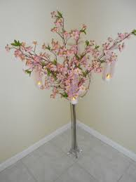 Cherry Blossom Tree Centerpiece by Tall Willow And Cherry Blossom Wedding Centerpieces Floral