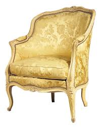 French Yellow Chair A Painted Louis Xv Bergere From Miguel Meirelles French Furniture