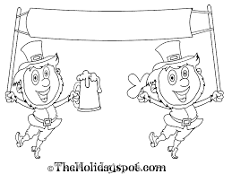 pictures to color on st patricks day for kids