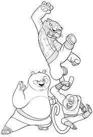 kung fu panda monkey coloring pages po and tigress and monkey from kung fu panda coloring page