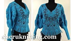 turquoise blouse turquoise crochet pineapple blouse model 623