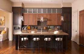 Black And Oak Kitchen Cabinets - elegant kitchens with warm wood cabinets traditional home