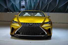 lexus yellow sports car lexus lf c2 concept hits l a likely previews rc convertible