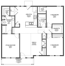 Floor Plan For 3 Bedroom 2 Bath House by Home Design 87 Excellent 2 Bedroom Bath Floor Planss