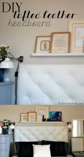 Home Design Diy by Remodelaholic Make A Tufted Leather Headboard