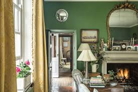 Curtains For Green Walls Lady Of The Valley Jane Ormsby Gore U0027s Home In The Inviting