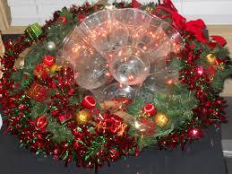 plastic cup half lighted ball wreath u003d centerpiece claus