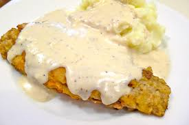 chicken fried steak with mashed potatoes and pan gravy coolcookstyle