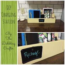 build a charging station the dabbling crafter diy charging station