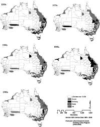 australian bureau decade analysis mapped source author based on australian bureau