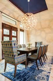 large modern dining room light fixtures in globe shape over a
