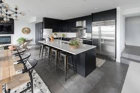Kitchen L Shaped Dining Table Modern Kitchen With Limestone By Atg Stores Zillow Digs Zillow