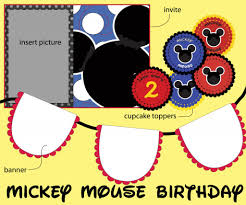 mouse clubhouse invitations free printable