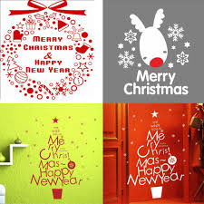 removable wall stickers merry christmas tree vinyl home wall decor see larger image