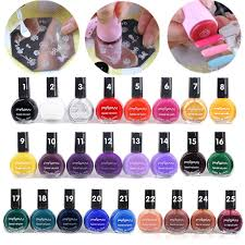10ml 25 colors painting template stamping printing print nail art