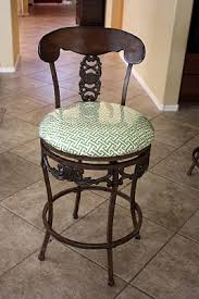 Vinyl Fabric For Kitchen Chairs by Recover Bar Stools With Fabric And Clear Vinyl She Did Four For
