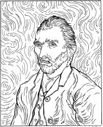 van gogh coloring book coloring pages