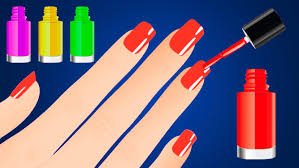 learn colors with surprise nail arts colours for kids children