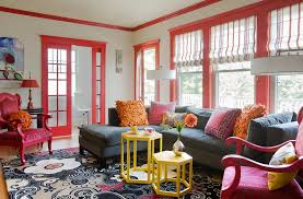 Red Livingroom by 21 Colorful Living Rooms To Crave