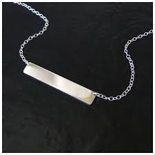 silver nameplate necklace sterling silver nameplate necklace as seen on can