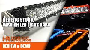 american made led light bar heretic studio wraith led light bars made in usa billet aluminum