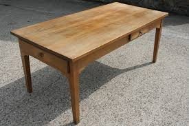 Beautiful Ash Small Table With Two Drawers This Can Be Used In - Farmhouse kitchen table with drawers