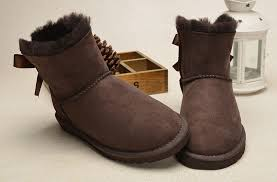 ugg womens boots bailey bow mini bailey bow boots 1005062 chocolate