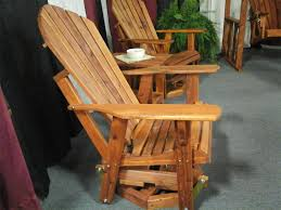 Gliding Adirondack Chairs Cedar Adirondack Swivel Glider From Dutchcrafters Amish Furniture
