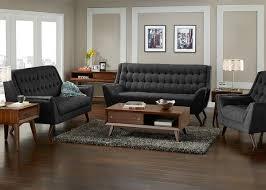 3 Pc Living Room Set Roxbury 3 Pc Living Room Black Living Room Sets Living Room