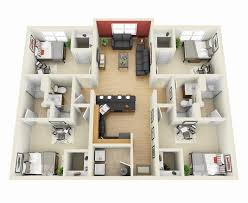 simple 4 bedroom house plans best 25 2 bedroom apartments ideas on 3 bedroom