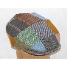 Patchwork Cap - hats made tweed patchwork flat cap
